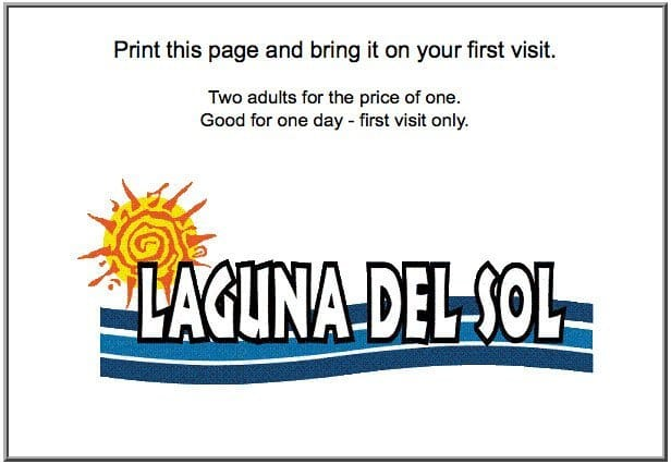 Laguna del Sol First Time Visitor Coupon